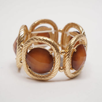 Be Jewel-ous Elastic Bracelet Light Brown Ed.