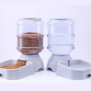 3.8L Pet Automatic Feeder Dog Cat Drinking Bowl For Dog Water Drinking Cat Feeding