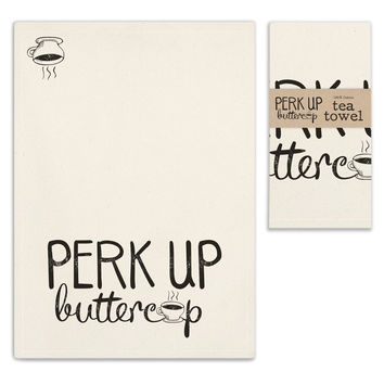Perk Up Tea Towels - Set of 4