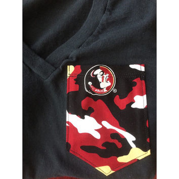 FSU Camo Pocket Tee/Tank/V-Neck