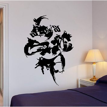 Wall Decal Football Player Super Bowl Wide Receiver Interior Decor Unique Gift z4002