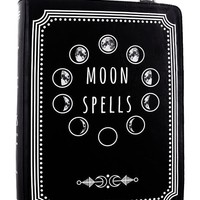 Witchcraft Moon Spell book book shaped shoulder bag