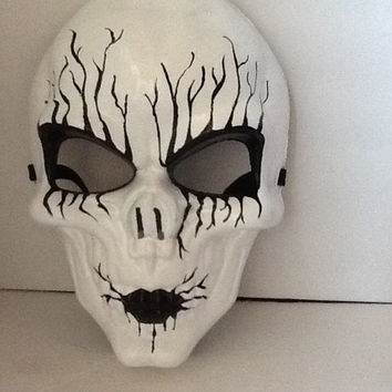 Mask, Skull Mask, White Skull Mask, Day of The Dead,Handpainted, Wall Art