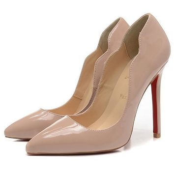 Christian Louboutin Fashion Edgy Pointed Heels Shoes-6