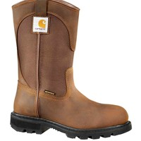 10-Inch Bison Brown Safety Toe Wellington