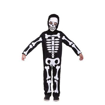PEAPON Boys Skeleton Cosplay Children Halloween Demon Costumes Kids April Fool 's Day tricky fetish Role play Easter Masquerade dress