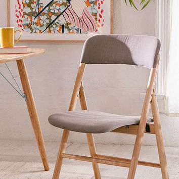 Mikke Upholstered Folding Chair - Urban Outfitters