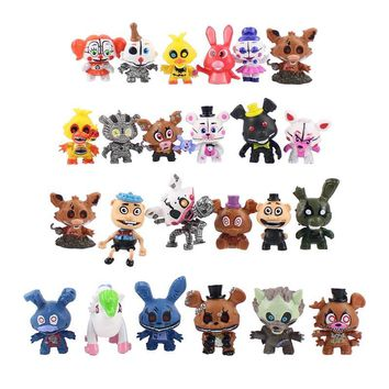 24pcs  At  Circus Baby PVC Action Figures  Freddy Bare Bonnie Foxy Chica Bear Figurines