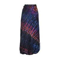 Tie Dye Mudmee Wrap Skirt on Sale for $32.95 at HippieShop.com