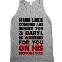 Run Like Daryl is Waiting-Unisex Athletic Grey Tank