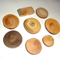 Jewelry findings making supplies. Natural wood for pendants, earrings, necklaces, rings, bracelets, brooches, charms, keychains, magnets ...