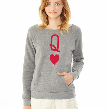 Queen of hearts ladies sweatshirt