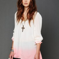 Free People Dip Dye Long Sleeve Tunic