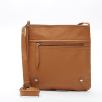 Casual Leather Messenger Sling Bag