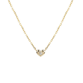 Tiny Heart Diamond Necklace