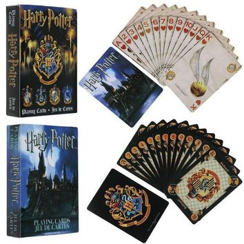 Harry Potter Playing Game Cards Hogwarts House Collection Badges Symbols Castle Crests 2 Patterns English Sets Fun Kid Toy Gift