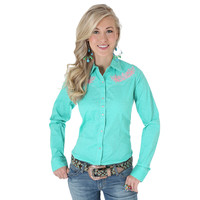 Rock 47® by Wrangler® Long Sleeve Shirt - Turquoise