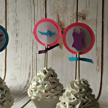 Girl Surf Cupcake Toppers