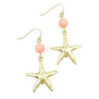 Starfish & Coral Accent Earrings
