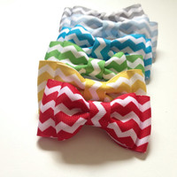 Chevron baby, boys or mens bowtie, bowties perfect for fourth of July, Photo Prop, or Photography Session