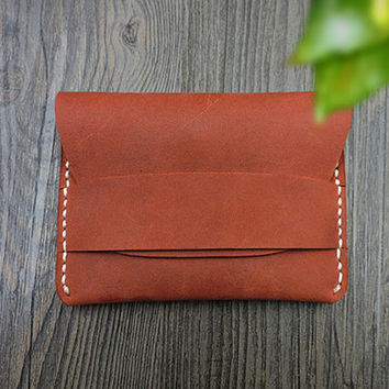 Unisex Leather Card Case , Custom Card Case Wallet , Slim Card Case , Hand Craft Card Case , Personalized Card Case , Gift