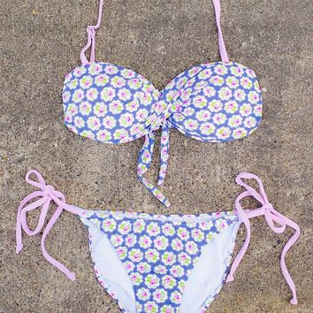 Lavender Flowers Swimsuit on modernego.com