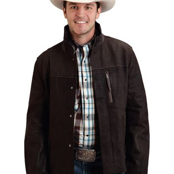 Stetson Suede Jacket with Smooth Leather Trim
