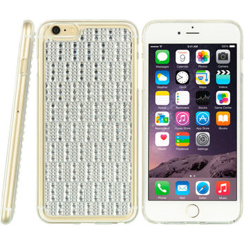 APPLE IPHONE 6 PLUS/6S PLUS CRYSTAL TPU CASE BEDAZZLED SILVER