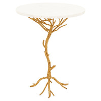 Crawford Granite Accent Table, White