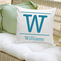 16x16 Family Name Throw Pillows - Typeset Initial