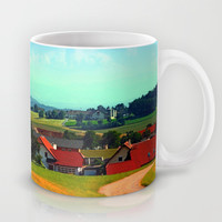 Peaceful farmland on a sunny afternoon Mug by Patrick Jobst