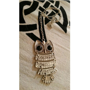 Vintage Steampunk Necklace Antique Owl Clock Spider Love Pendant Chain Necklace 2016 New Jewelry For Men Women