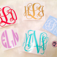 Vinyl Decal- Monogrammed For Car, Laptop, Notebook, and Many More!!