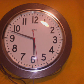 Vintage Large Sunbeam Industrial/School Wooden Wall Clock