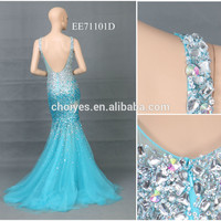 HOT AO71101C Black And Gold Luxury Wedding Bare Back Mermaid Dress Backless Lace Evening Dresses, View backless lace evening dresses, Choiyes Product Details from Chaozhou Choiyes Evening Dress Co., Ltd. on Alibaba.com