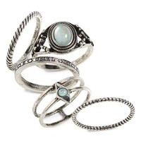 Topshop Set of 5 Rings | Nordstrom