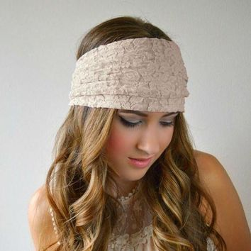 Hot Sale !!fashion Women Lady Girl Lace Wide Hairband Headband Bandanas  Headwear Sports Elastic Hair Band Accessories