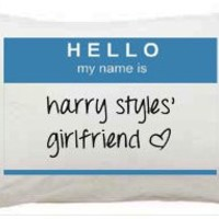 Harry Styles One Direction Girlfriend I Love Pillowcase Teen Christmas Gift 1D Girls