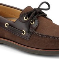 Sperry Top-Sider Gold Cup Authentic Original 2-Eye Boat Shoe Brown/BucBrown, Size 8W  Men's Shoes