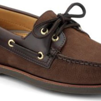 Sperry Top-Sider Gold Cup Authentic Original 2-Eye Boat Shoe Brown/BucBrown, Size 11M  Men's Shoes