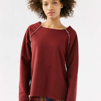 Without Walls Reversible Fleece Sweatshirt - Urban Outfitters