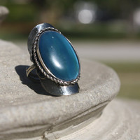 Aqua Alpaca gem ring