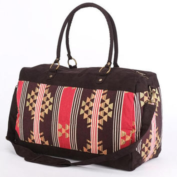 Large Tapestry Weekender Bag, Red Tribal, Southwestern, Getaway bag,  Carryon Bag, Large Tote Bag, Festival Bag