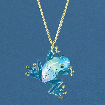 Glass Baron Frog Tiffany Necklace