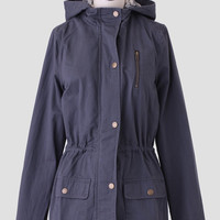 Norfolk Road Anorak In Charcoal