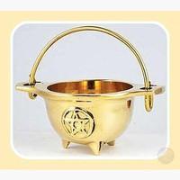 Brass Pentagram Cauldron