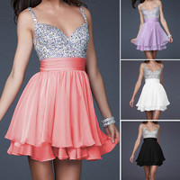 Homecoming Graduation Bridesmaid Prom Birthday Party Evening Cocktail Dress Gown