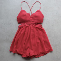 rhythm of the night romper - red