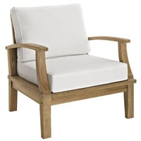 Modway Marina Teak Outdoor Patio Arm Chair With Cushion
