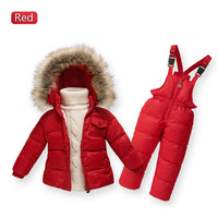 Children Winter Down Jacket Boys Warm Outerwear Coats Girls Clothing Set Or Coat Kids Ski Suit Jumpsuit For Boys Baby Overalls